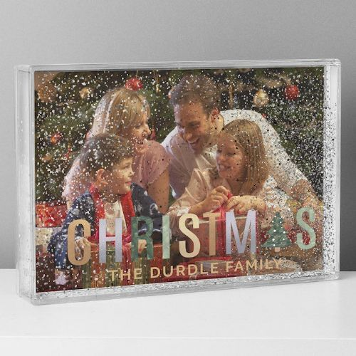 Christmas 6x4 Glitter Shaker Photo Frame